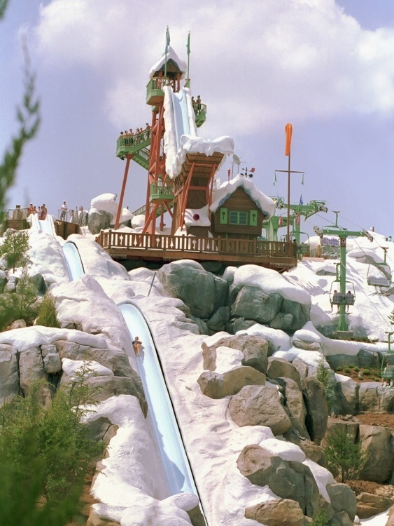 "Blizzard Beach - ""Winter"" fun in Florida at this fun themed Disney water park."