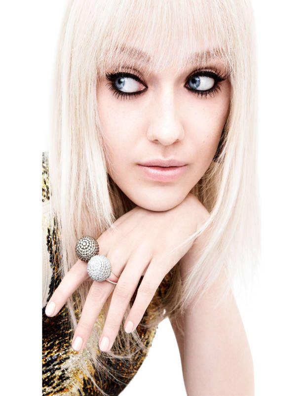 Dakota Fanning in Louis Vuitton blouse and de Grisogono for TownCountry