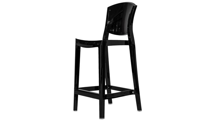 Svart Schäfern plaststol i polykarbonat. Stol, barstol, bar, hög, plast, polykarbonat, kök, vardagsrum, hall, sovrum, inredning, möbler. http://sweef.se/stolar/321-schafern-barstol-i-polykarbonat.html