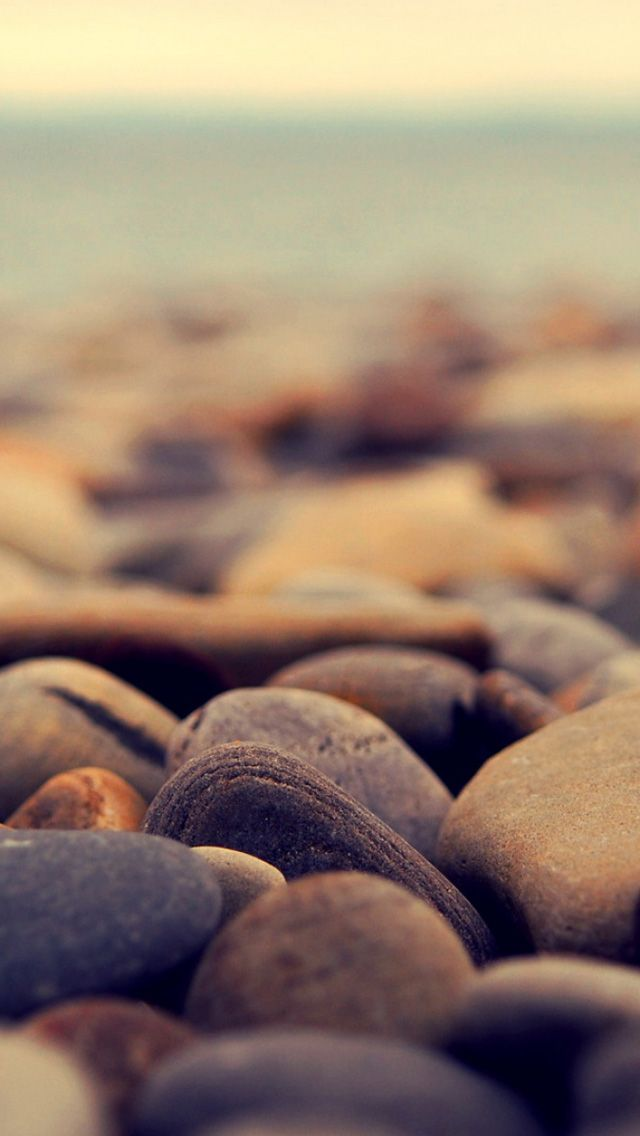 Stone beach  - iPhone wallpapers @mobile9