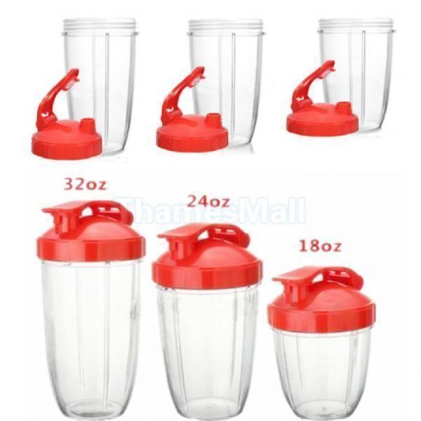 18/24/32Oz Plastic Clear Cup For Nutribullet Blender Juicer Mixer Spare Part