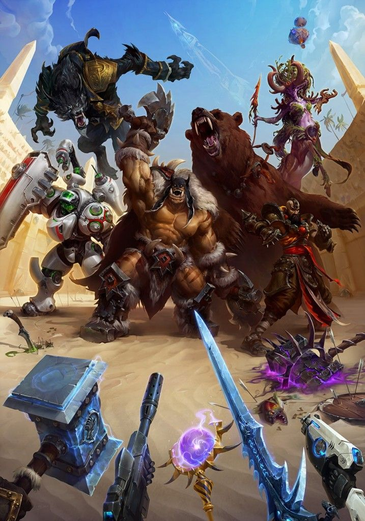 Heroes Of The Storm Concept Art Collection - Animation