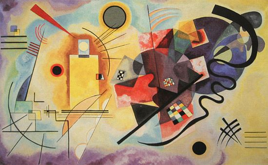 Wassily Kandinsky : This painting, titled Yellow Red Blue, was painted...