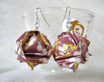 Origami Earrings Paper Earrings Butterfly by VonnesHandmadez