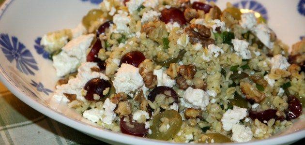 Салат с булгуром, брынзой и виноградом – Вся Соль - кулинарный блог Ольги Баклановой