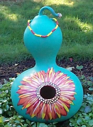 Sunflower bird house
