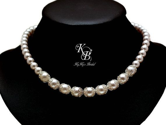 Bridal Jewelry Set Pearl Jewelry Set for the Bride Pearl