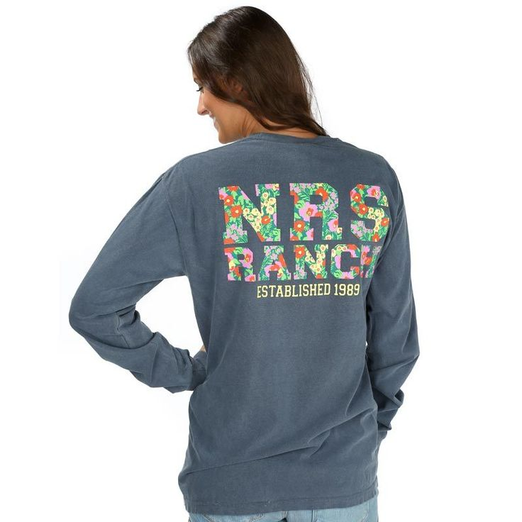 Shop NRS Ranch Navy Floral T-Shirt