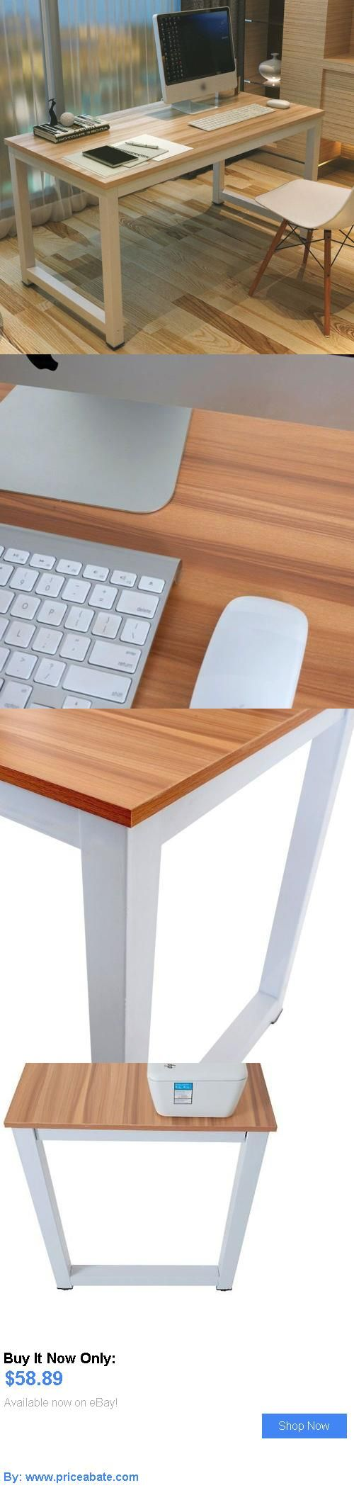 Office Furniture: Computer Desk Pc Laptop Table Wood Workstation Study Home Office Furniture Brown BUY IT NOW ONLY: $58.89 #priceabateOfficeFurniture OR #priceabate