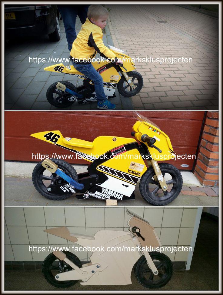 Made a special edition Yamaha Moto GP Valentino Rossi balance bike for my little cousin.  #balancebike #vr46 #valentinorossi #yamaha #loopfiets