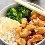Quick Teriyaki Chicken Rice Bowls recipe – sweet, garlicky chicken served with rice and steamed broccoli comes together in just 20 minutes.