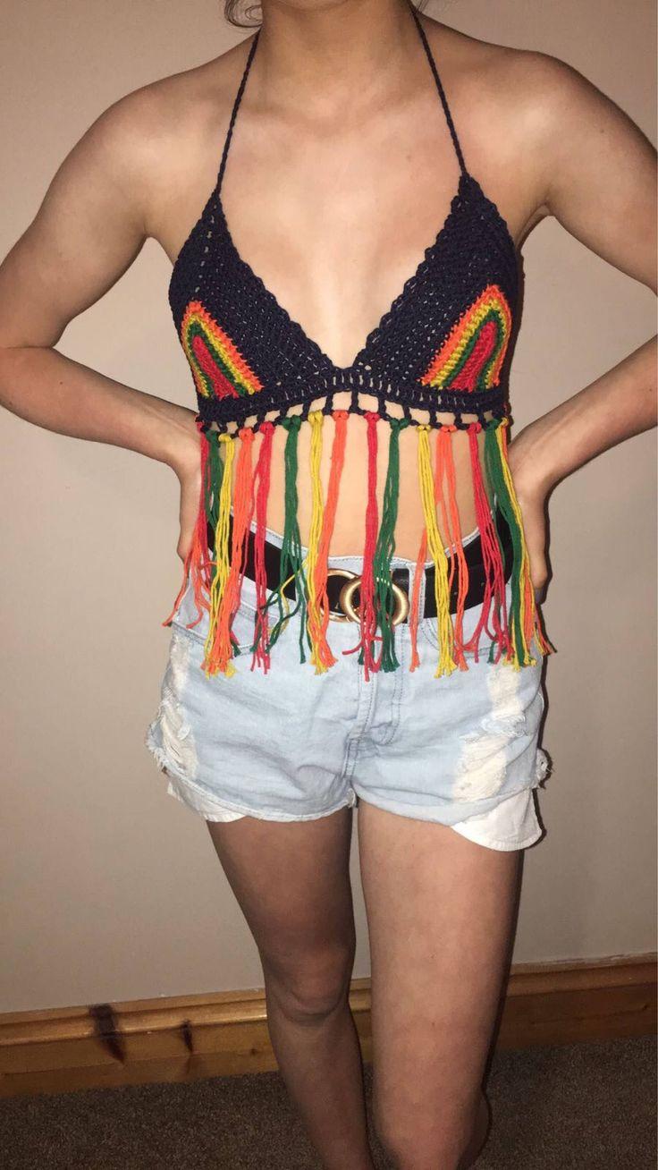 A personal favourite from my Etsy shop https://www.etsy.com/ie/listing/539964391/crochet-festival-fashion-boho-bikini-top