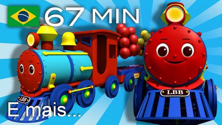 A canção do trem das cores | E muitas mais Canções de Ninar | LittleBaby...