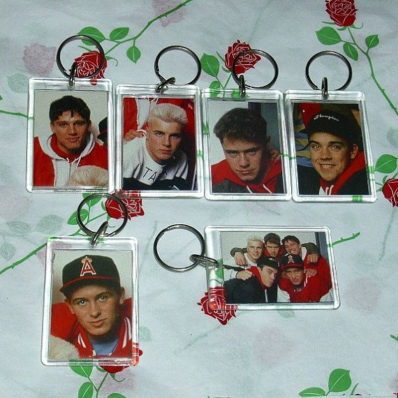 Take That Set Of Six Keyrings Music by WelshGoatVintage on Etsy - SOLD OUT