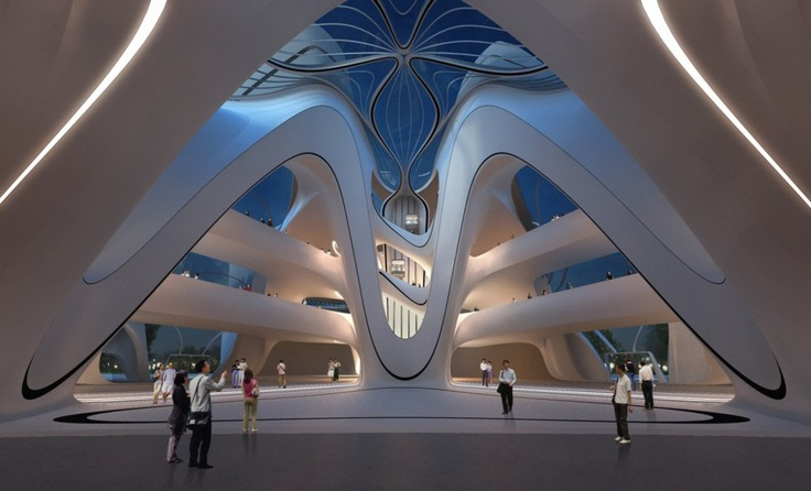 Zaha Hadid: Changsha Meixi Lake International Culture & Arts Centre http://art.ihned.cz/umeni-a-design/c1-59608140