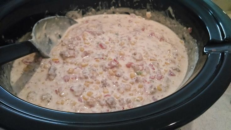 Ground Turkey Cowboy Crack cooked in a Crock-pot! So dang good