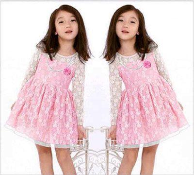 Dress Anak Lacey Pink Kids terbuat dari Bahan Full Brukat Combi Furing Baju anak perempuan lacey Pink Kids Allsize cocok untuk buah hati bunda