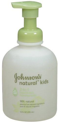 Johnson & Johnson Kids Natural 2-in-1 Hand & Face Face Wash 10 oz. by Johnson & Johnson. $8.00. No More Tears patented formula.. Simply made with pure and natural fragrances.. Combines naturally derived ingredients to delicate skin.. Target reserves the right to limit quantities per guest.. Plant and fruit derived ingredients. Made from 98% natural, plant and fruit-derived ingredients that are dye free, essential oil free, allergy tested and pediatrician tested.