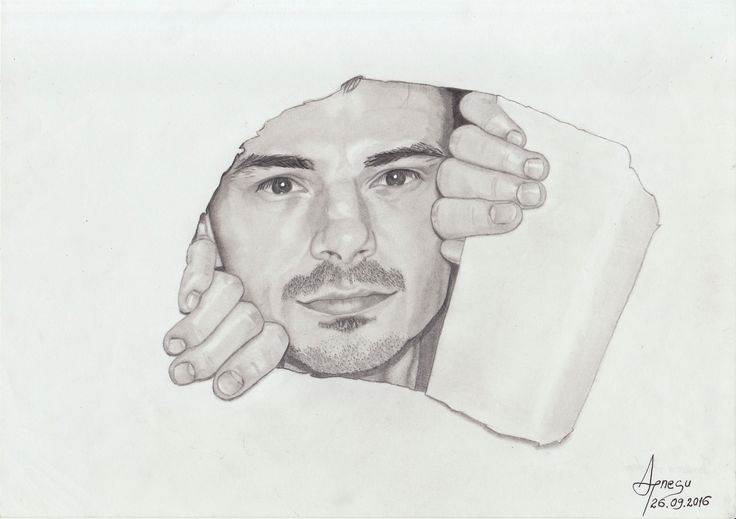Auto-portrait ... If you want to see more, look here  ... https://www.facebook.com/AndreiIonescuArt/ ... #art #drawing