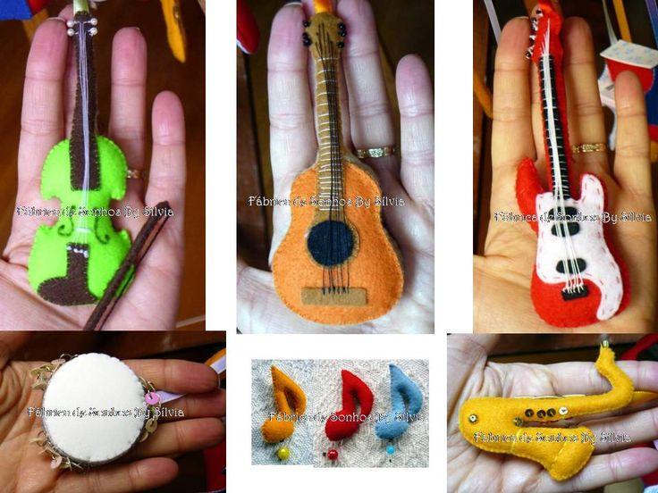 moldes de instrumentos musicais em feltro 1