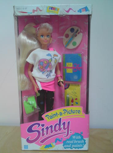 Hasbro Sindy doll Paint a Picture green eyes 1989 mint in box | eBay