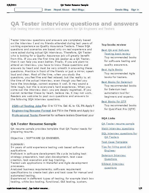 Pin On Best Software Tester Resume Sample