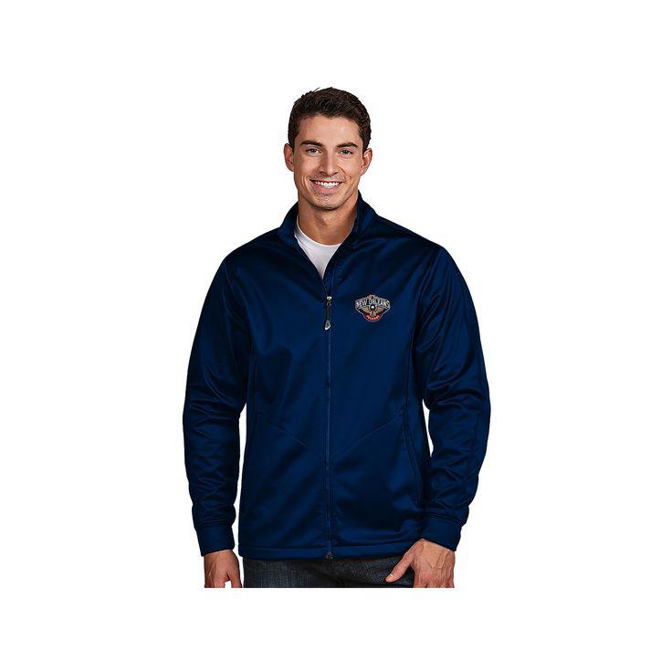 Men's Antigua New Orleans Pelicans Golf Jacket, Size: Medium, Blue (Navy)