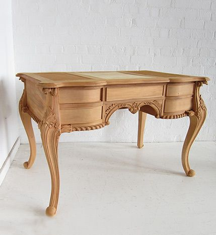 <p>Traditional Chippendale Desk</p> / Chippendale Double Sided Desk, Small / Dutch Connection