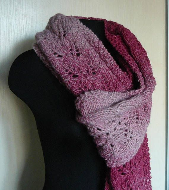 Extra long scarf Oversized scarf wrap Knitted Chunky scarf