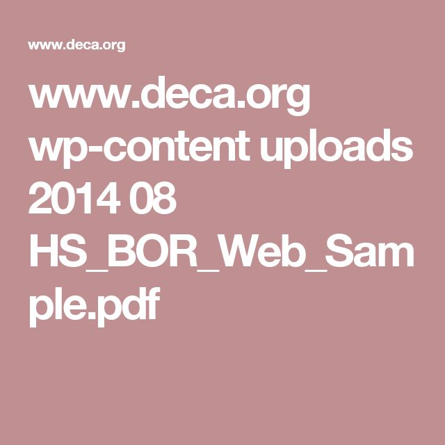 www.deca.org wp-content uploads 2014 08 HS_BOR_Web_Sample.pdf