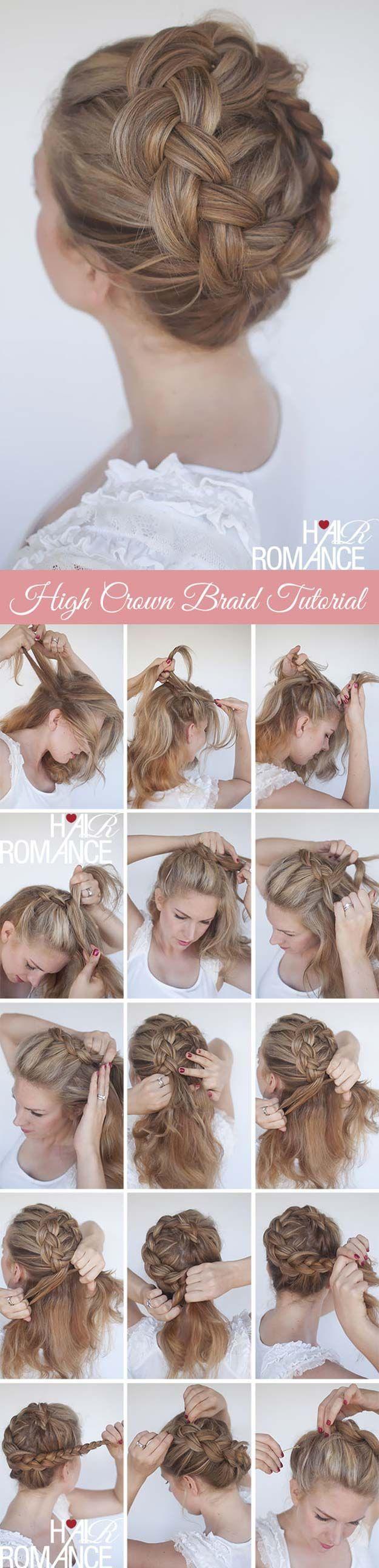 Best Hair Braiding Tutorials – High Braided Crown Tutorial – Easy Step by Step T