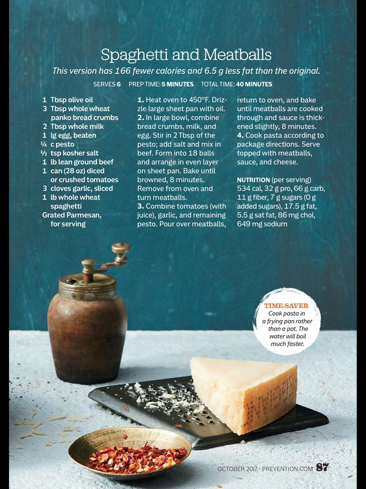 """Recipes: Comfort Food Made Healthy"" from Prevention, October 2017. Read it on the Texture app-unlimited access to 200+ top magazines."