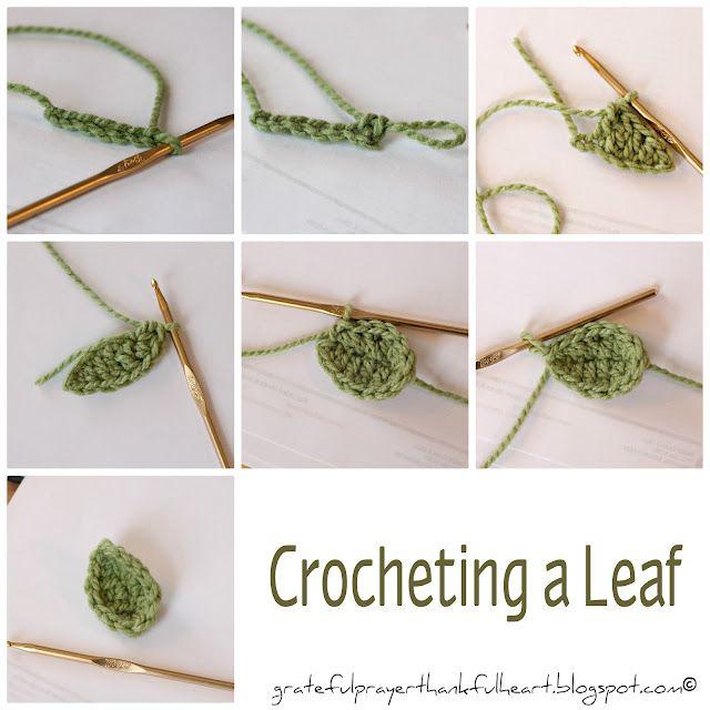 crocheting a leaf