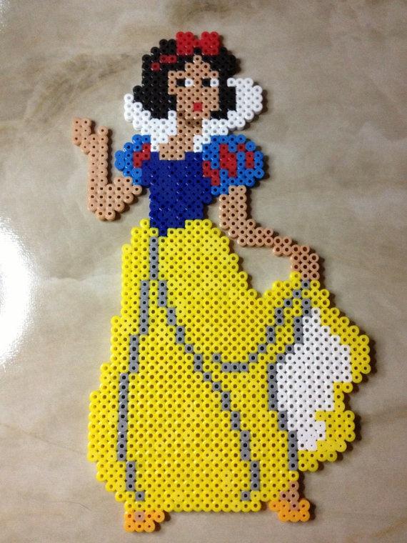 Snow White Perler Bead Sprite. $15.00, via Etsy.