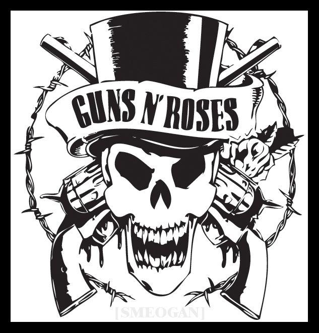 guns n roses stencils | Guns N' Roses by Smeogan | silhouette | Pinterest | Stenciling, Guns and ...