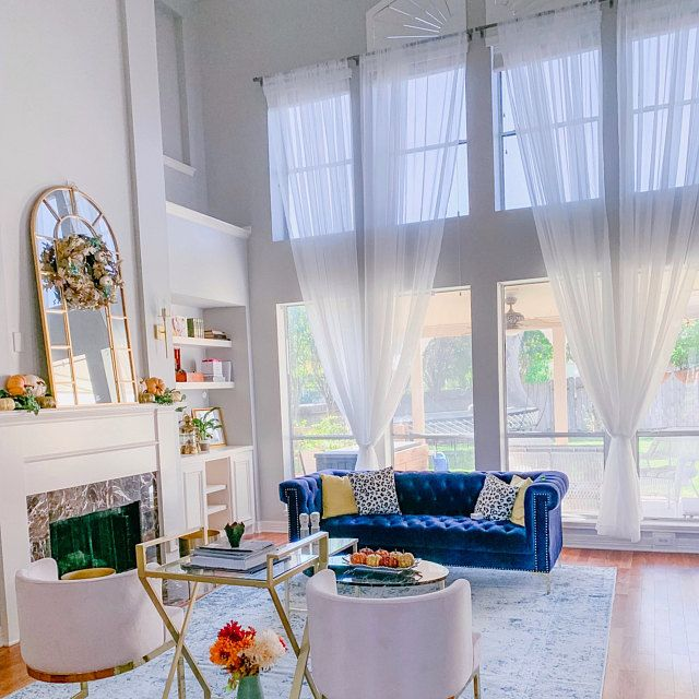Extra Long Natural Linen Curtains Drapes Custom Made 10 12 Etsy High Ceiling Living Room Living Room White Wide Curtains
