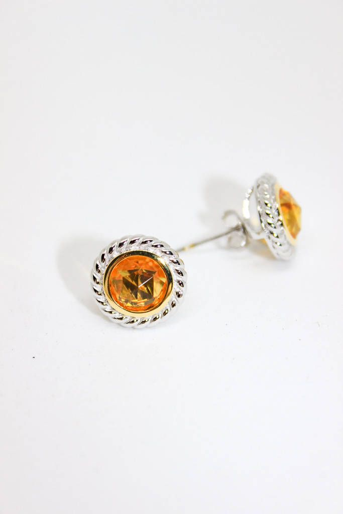 Excited to share the latest addition to my #etsy shop: Citrine Gemstone Earring Holiday Gift/Cable Earring/Gift for her/Citrine Stud Earring/Sterling Silver Earring/Gemstone Earrings/Christmas