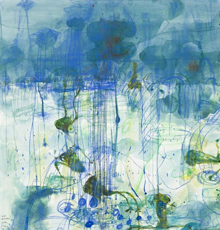 John Olsen - Wet Season, 1994, watercolour and pastel on paper