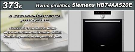 Los nuevos hornos SIEMENS pirolíticos multifunción incorporan un monton de nuevas funcionalidades que haran la delicia de los más cocineros, en www.esmio.es queremos ofrecerte la oportunidad de obtener uno de los mejores hornos del mercado a un precio de risa, por eso durante 7 días te lo ofrecemos por solo 373€! Tienes más información de todas las funciones de los nuevos hornos Siemenens en nuestro blog: http://www.esmio.es/blog/?p=3310
