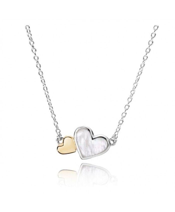 Pandora Luminous Hearts Necklace 590521MOP Sale