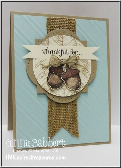Love the warm textures and colors of this card.Cards Ideas, Cards Fal, Colors, Fall Cards, Fall Halloween Cards, Fall Thanksgiving, Connie Babbert, Thanksgiving Cards, Paper Crafts
