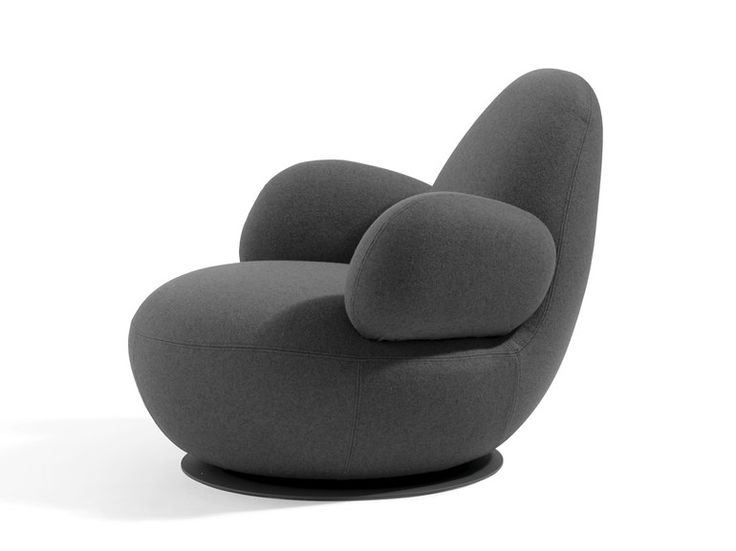 Swivel upholstered armchair Oppo Collection by Blå Station | design Stefan…a comfortable blob looking for company!
