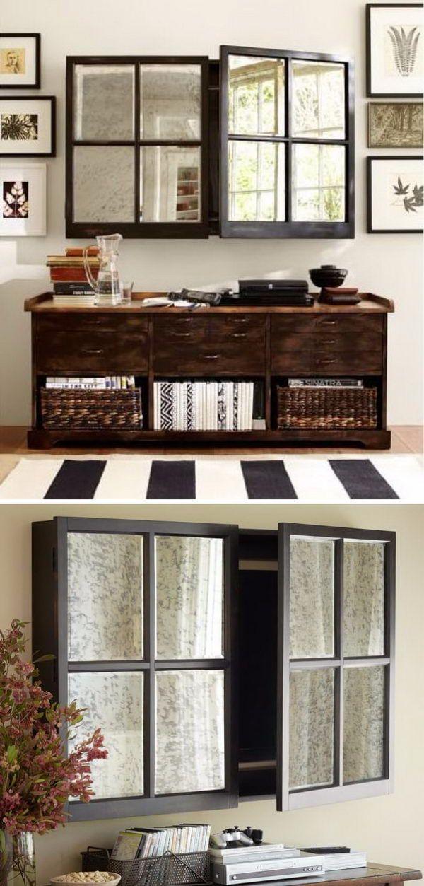 15 Stylish Ways To Hide Tv Hidden Tv Small Living Rooms Hidden