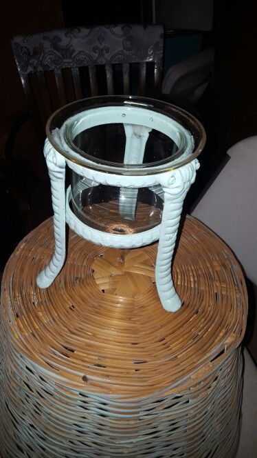 Heavy iron floating  candle holder 10$