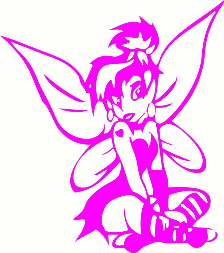emo tinkerbell coloring pages - photo#19
