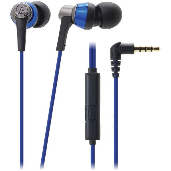 SonicPro(R) ATH-CKR3IS Earbuds with Microphone (Blue) - AUDIO TECHNICA - ATH-CKR3ISBL