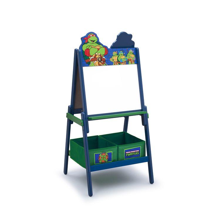 PIZARRA DE MADERA PARA NIÑOS DE LAS TORTUGAS NINJA. COMBI 2 CARAS ÚTILES. TE87580NT, IndalChess.com Tienda de juguetes online y juegos de jardin
