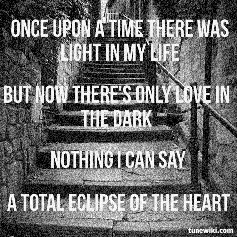 """-- #LyricArt for """"Total Eclipse Of The Heart (Glee Cast Version featuring Jonathan Groff)"""" by Glee Cast"""