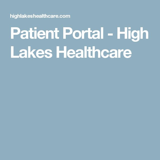 Patient Portal - High Lakes Healthcare