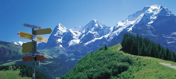 Zwitserland: Eiger, Monch en Jungfrau